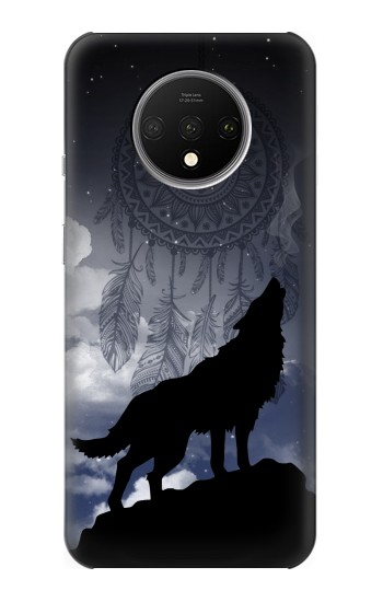 Printed Dream Catcher Wolf Howling OnePlus 7T Case