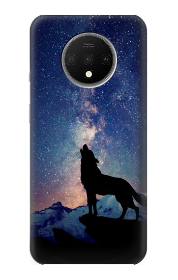 Printed Wolf Howling Million Star OnePlus 7T Case
