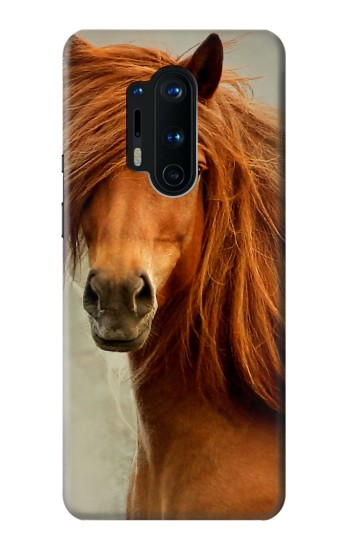 Printed Beautiful Brown Horse OnePlus 8 Pro Case