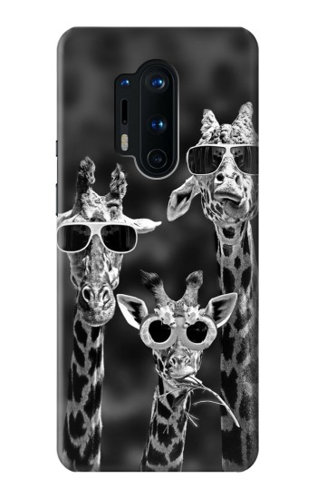 Printed Giraffes With Sunglasses OnePlus 8 Pro Case