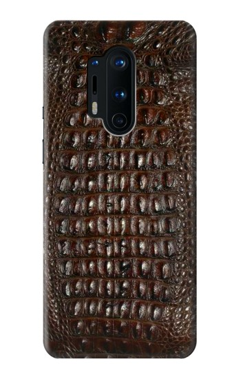 Printed Brown Skin Alligator Graphic Printed OnePlus 8 Pro Case