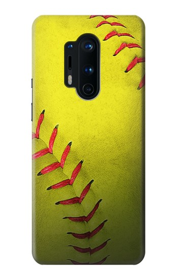 Printed Yellow Softball Ball OnePlus 8 Pro Case