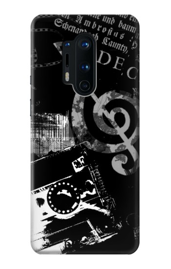 Printed Music Cassette Note OnePlus 8 Pro Case