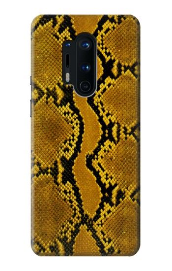 Printed Yellow Python Skin Graphic Print OnePlus 8 Pro Case