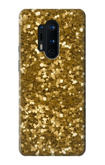 Printed Gold Glitter Graphic Print OnePlus 8 Pro Case
