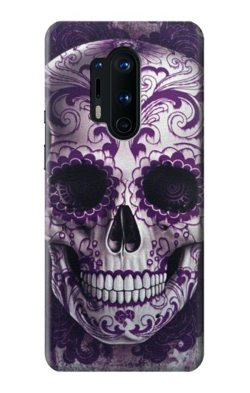 Printed Purple Sugar Skull OnePlus 8 Pro Case