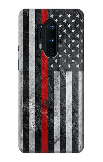 Printed Firefighter Thin Red Line American Flag OnePlus 8 Pro Case