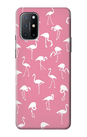Printed Pink Flamingo Pattern OnePlus 8T Case