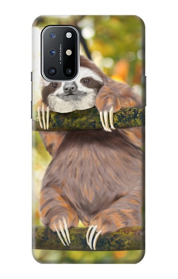 Printed Cute Baby Sloth Paint OnePlus 8T Case