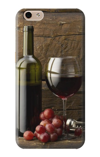 Printed Grapes Bottle and Glass of Red Wine alcatel Idol 3 (5.5) Case