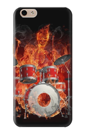 Printed Skull Drum Fire Rock alcatel Idol 3 (5.5) Case