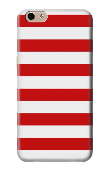 Printed Red and White Striped alcatel Idol 3 (5.5) Case