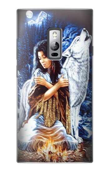 Printed Grim Wolf Indian Girl OnePlus 2 Case
