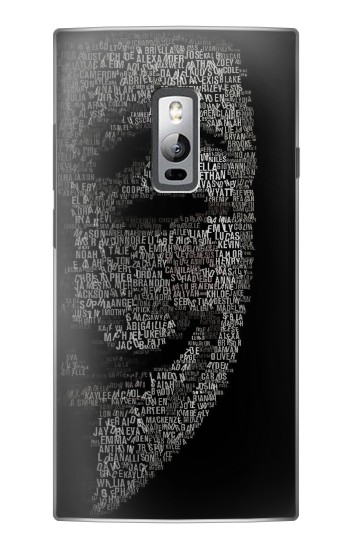 Printed V Mask Guy Fawkes Anonymous OnePlus 2 Case