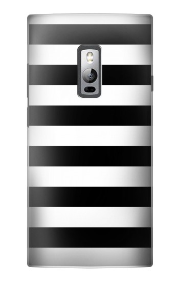 Printed Black and White Striped OnePlus 2 Case