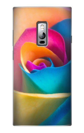 Printed Rainbow Colorful Rose OnePlus 2 Case
