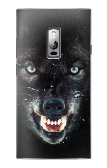 Printed Black Wolf Blue Eyes Face OnePlus 2 Case