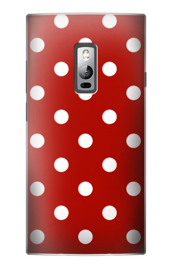Printed Red Polka Dots OnePlus 2 Case