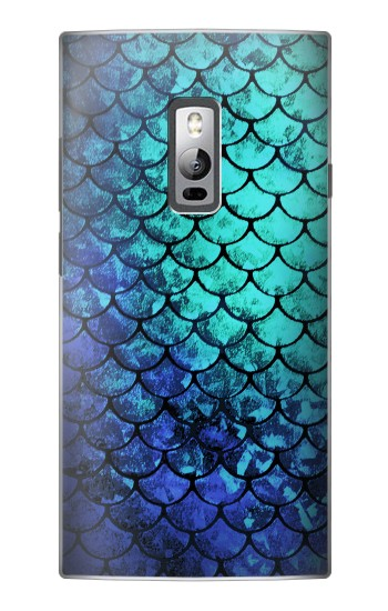 Printed Green Mermaid Fish Scale OnePlus 2 Case