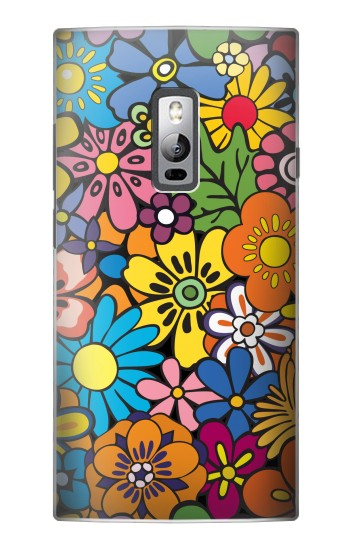 Printed Colorful Flowers Pattern OnePlus 2 Case