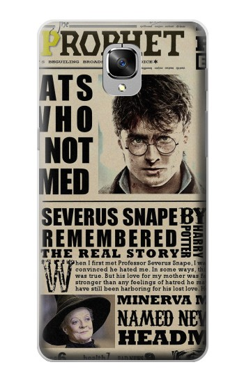 Printed Harry Potter Daily Prophet OnePlus 3 Case