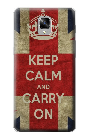 Printed Keep Calm and Carry On OnePlus 3 Case