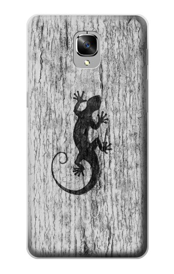 Printed Gecko Wood Graphics Printed OnePlus 3 Case