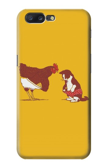 Printed Rooster and Cat Joke Asus Zenfone 6 A600CG Case