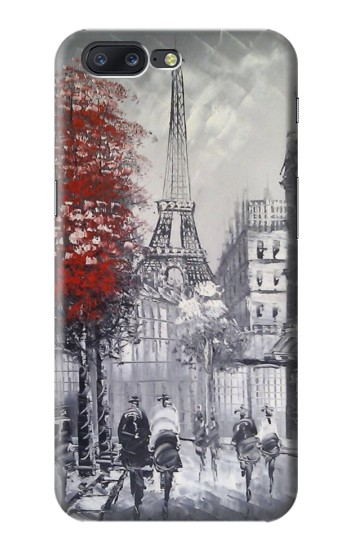 Printed Eiffel Painting of Paris Asus Zenfone 6 A600CG Case
