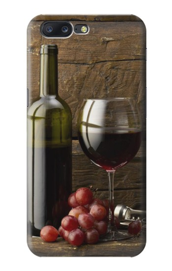 Printed Grapes Bottle and Glass of Red Wine Asus Zenfone 6 A600CG Case