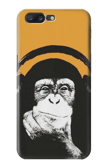 Printed Funny Monkey with Headphone Pop Music Asus Zenfone 6 A600CG Case