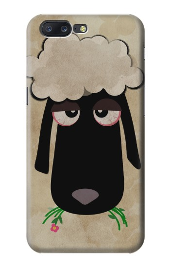 Printed Cute Cartoon Unsleep Black Sheep Asus Zenfone 6 A600CG Case