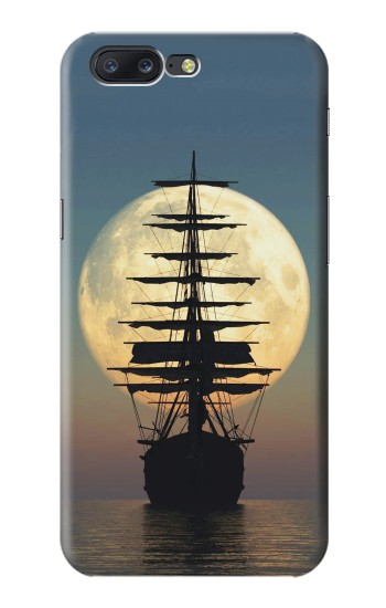 Printed Pirate Ship Moon Night Asus Zenfone 6 A600CG Case