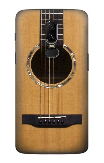 Printed Acoustic Guitar OnePlus 6 Case