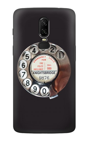 Printed Retro Rotary Phone Dial On OnePlus 6 Case