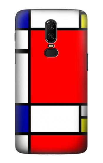 Printed Composition Red Blue Yellow OnePlus 6 Case