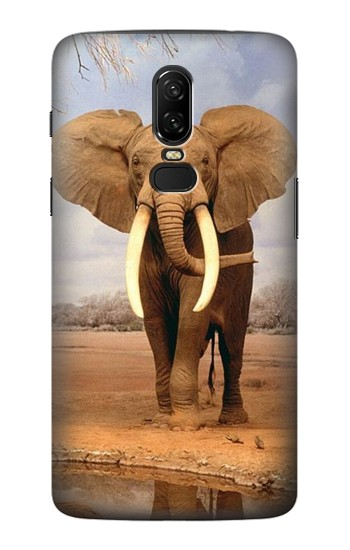 Printed African Elephant OnePlus 6 Case