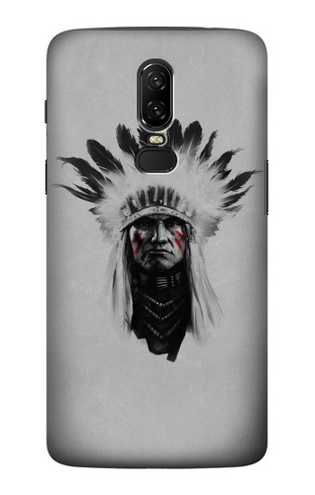 Printed Indian Chief OnePlus 6 Case