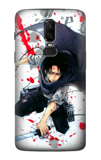 Printed Attack on Titan Rivaille Levi OnePlus 6 Case