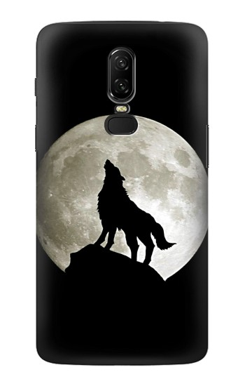 Printed Wolf Howling at The Moon OnePlus 6 Case