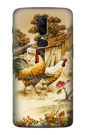 Printed French Country Chicken OnePlus 6 Case