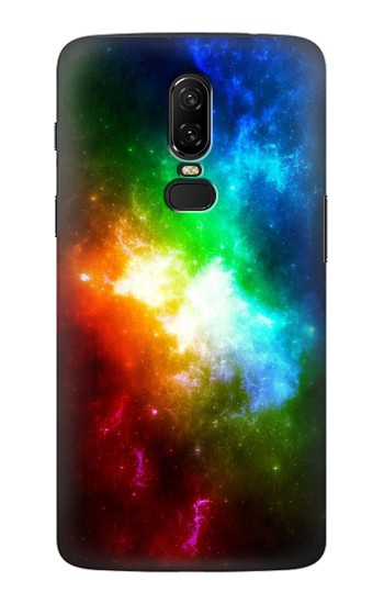 Printed Colorful Rainbow Space Galaxy OnePlus 6 Case