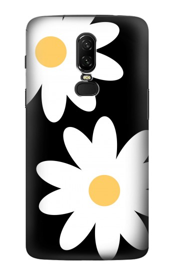 Printed Daisy White Flowers OnePlus 6 Case