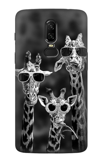 Printed Giraffes With Sunglasses OnePlus 6 Case