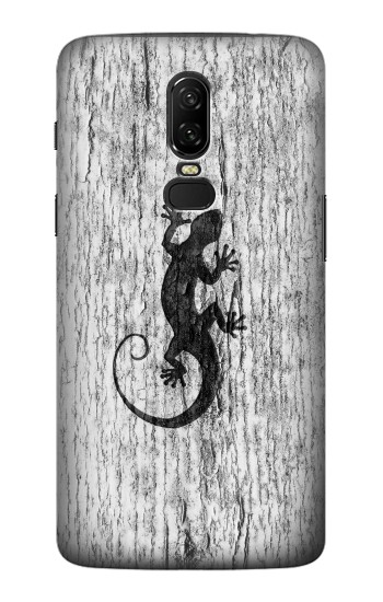 Printed Gecko Wood Graphics Printed OnePlus 6 Case