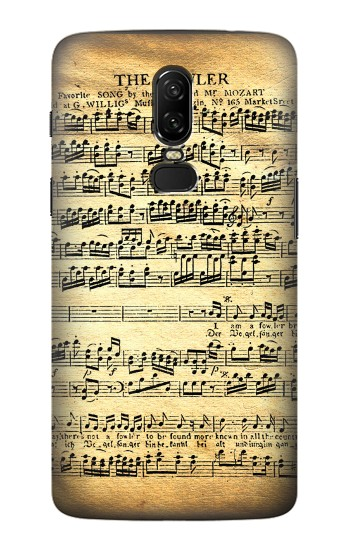 Printed The Fowler Mozart Music Sheet OnePlus 6 Case