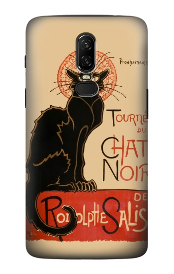 Printed Chat Noir The Black Cat OnePlus 6 Case