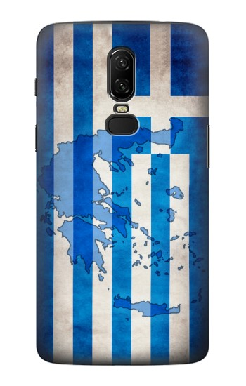 Printed Greece Map Flag OnePlus 6 Case