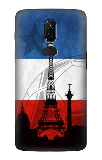 Printed France Football Flag OnePlus 6 Case