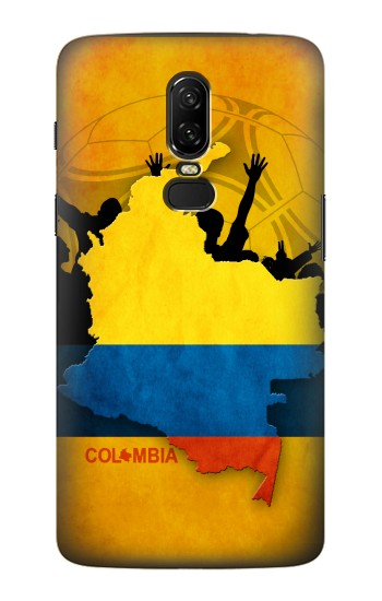 Printed Colombia Football Flag OnePlus 6 Case